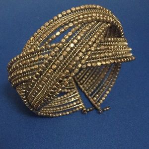 Elegant dressy crossover bracelet